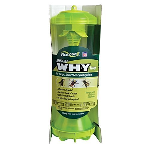 RESCUE Non-Toxic Reusable Trap for Wasps, Hornets and Yellowjackets (Best European Wasp Bait)