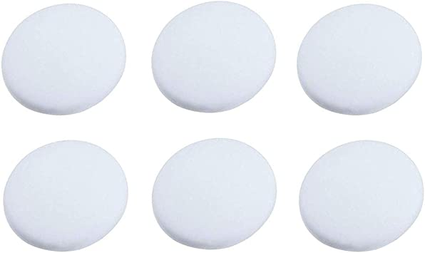 Door Stopper Wall Shield 1.6, 6 Pack-White Rubber Wall Protectors White Door Bumper Knob Shield Handle Guard Self Adhesive Prevent Damage to Walls from Door Knobs