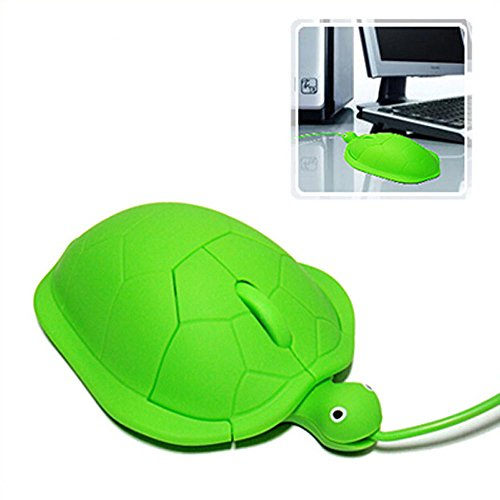 Kasstino USB 3D Optical Cute Turtle Mouse PC Laptop Comfort Hand Touch Wired Optic Mouse