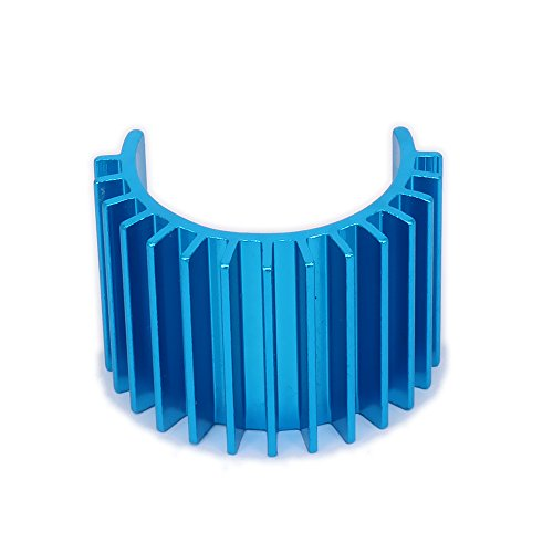 RCAWD Heat Sink Heatsink Head 380 Motor Cooling Alloy Aluminum 308002 for 1/16 RC Hobby Model EP Car/Boat HSP HPI Wltoys Himoto Redcat 1Pcs(Blue)