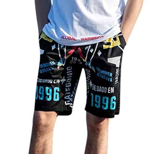 [해외]KEEYSUN 남자 비치 바지 인쇄 트렁크 빠른 드라이 서핑 조깅 하는 사람 장착 짧은 바지 / KEEYSUN Men Beach Pants Print Trunks Quick Dry Surfing Jogger Fitted Short Pants
