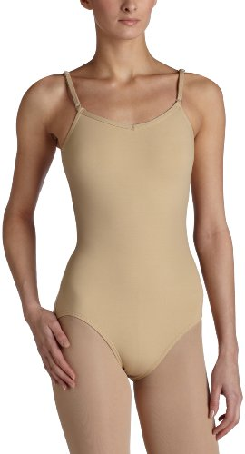 Capezio Women's Camisole Leotard With Adjustable Straps,Nude,Small -
