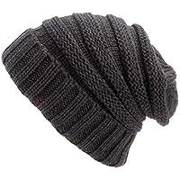 kaifongfu Hat Boy Girls Warm Crochet Winter Wool Knit Ski Beanie Skull Slouchy Caps