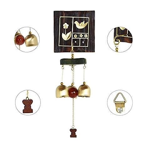 Monsiter Carillones de Viento de Madera con Campanas para Decoraci/ón de Jard/ín y Patio Patio