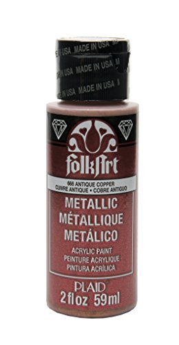 FolkArt Metallic Acrylic Paint in Assorted Colors (2 oz), 666, Antique Copper from FolkArt