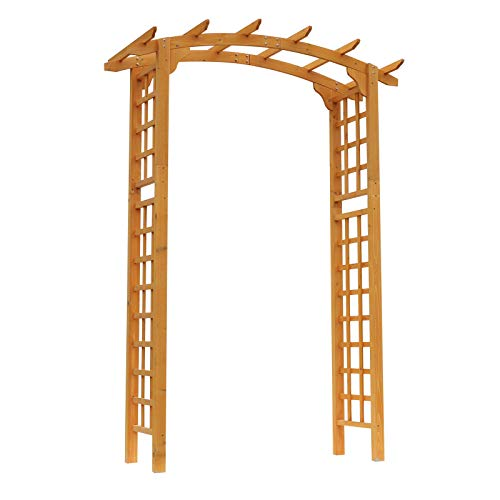 Alek...Shop Wedding Arches, Catering Decoration Garden Decor Arch Archway Trellis Arbor Pergola Style Decorative Plants Floral Wood Backyard Garden Outdoor Grow Plant Support
