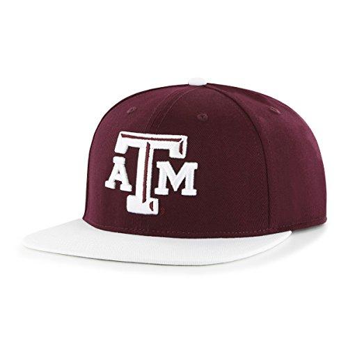OTS NCAA Texas A&M Aggies Men's Gallant Varsity Snapback Adjustable Hat, Team Color, One Size (Bill Cap M And Texas A Flat)