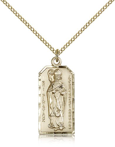 Amazon saint patrick medals gold plated st patrick pendant saint patrick medals gold plated st patrick pendant including 18 inch necklace aloadofball Gallery