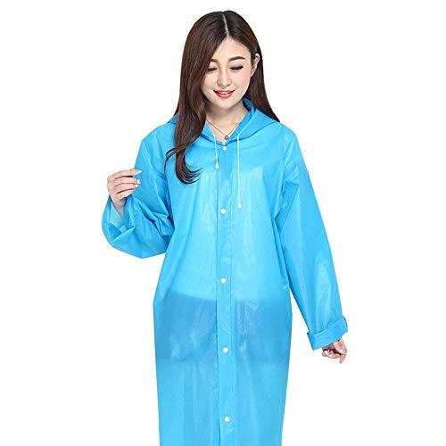 Simple Viaje Impermeable Opción Transparente Exterior Adulto Multi Lluvia Azul Casual Poncho Con Capucha Dama Portátil Color Chaquetas 8w4wB