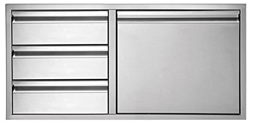 Twin Eagles TEDD423-B 3-Drawer-Door Combo, 42 Inch by Twin Eagles