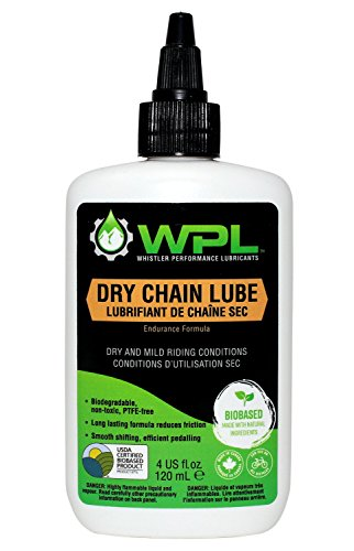 WPL Dry Chain Lube, Bicycle Dry Conditions Chain Lubricant, Biodegradable Bio-Based and Non-Toxic Formula for Superior Road and Mountain Bike Performance
