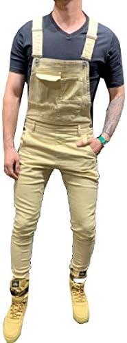 [해외]xiaohuoban Men`s Pocket Jeans Overall Jumpsuit Streetwear Overall Bib Slim Fit Denim Pants 4 S / xiaohuoban Men`s Pocket Jeans Overall Jumpsuit Streetwear Overall Bib Slim Fit Denim Pants 4 S