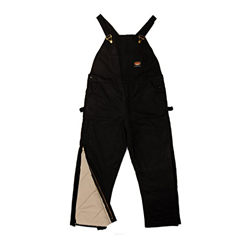 Rasco FR HEAVY Black INSULATED Winter Bib Overalls - Flame Resistant