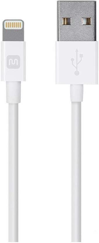 Monoprice Select Series Apple MFi Certified Lightning to USB Charge & Sync Cable, 6-inch White for iPhone X, 8, 8 Plus, 7, 7 Plus, 6, 6 Plus, 5S, iPad Pro