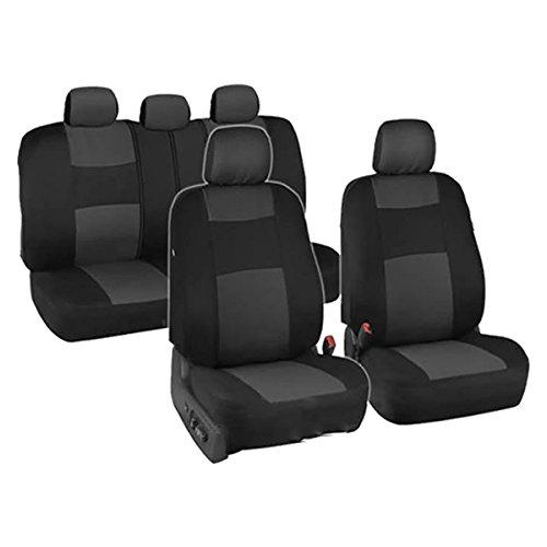 Charcoal Car Seat Covers for Sedan SUV Cars Trucks