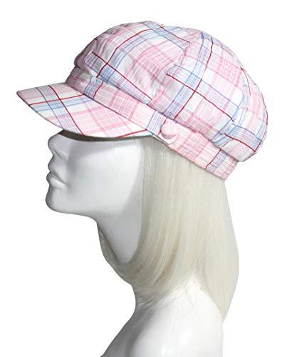 Plaid Newsboy Cap - C97 Pink