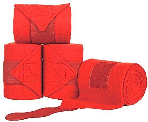 (Equestrian Polar Fleece Bandages/Polo Wraps (EQIBND03) (RED, 300))