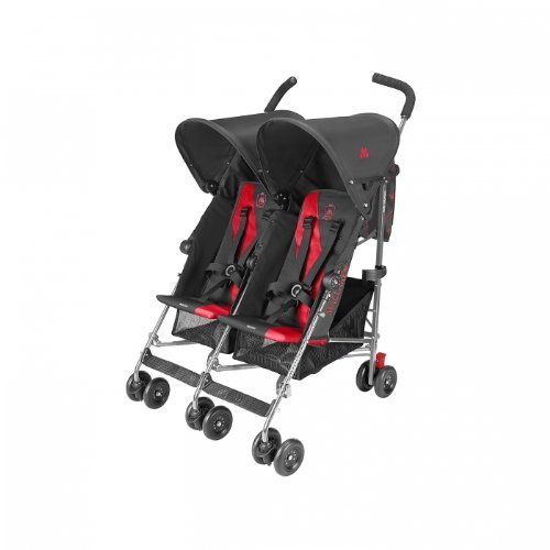 Maclaren Twin Triumph Side-by-side stroller 2seat(s) Rojo - Cochecito (Carrito gemelar, 6 month(s), 2 Asiento(s), Chocolate,...