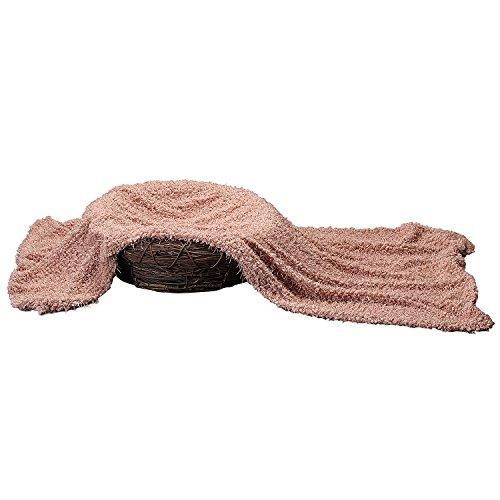 Sunmig Newborn Baby Photo Prop Blanket Rug Background Backdrops Basket Stuffer (Charleston Pink)