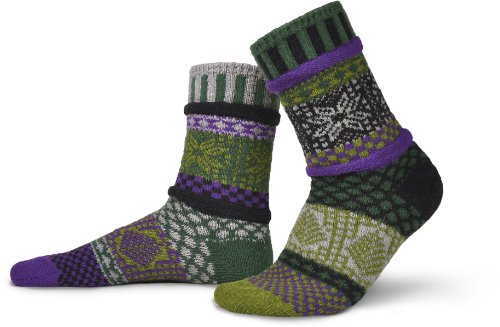 Solmate Socks - Mismatched Crew Socks; Made in USA; Balsam Medium