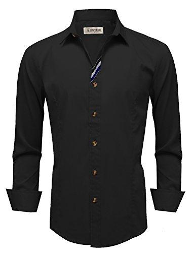 TAM WARE Men's Stylish Long Sleeve Button Down Shirt
