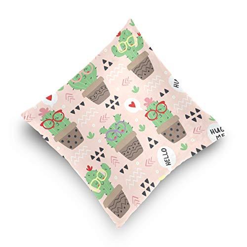 hengpai Cute Cactus Square Pillow Cases Decorative Pillow