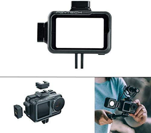 PGYTECH OSMO Action Camera Cage,Housing Frame Case Universal Interface Expansion Accessories for DJI OSMO Action