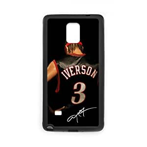 Onshop Custom Allen Iverson and Signature Pattern Phone Case Laser Technology for Samsung Galaxy Note 4
