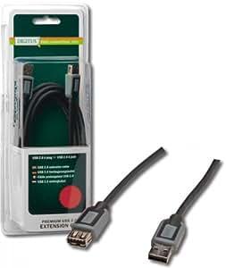 Digitus DB-300207-030-D - Cable USB (2.0, USB A, USB A, USB A, Ampolla)