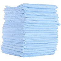 Microfibre Cleaning Cloths - Value Pack Microfiber Cloth 30cm x 40cm, 80/20, 20 Pack, Absorbent, LINT-Free, Streak-Free, for Kitchen, Car, Windows, Glass, All Purpose Microfiber Cloths