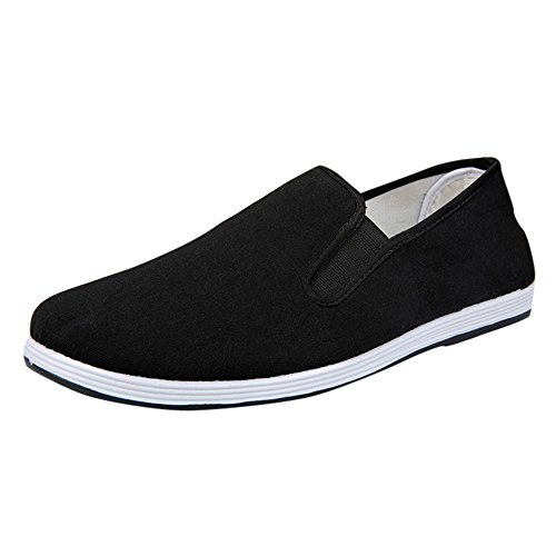 décontractées de Sneakers Sport Montagne ALIKEEY Garçons on Respirant Slip Canvas Running Chaussures Chaussures Solide Casual Chaussures d'affaires Noir Chaussures Hommes 1FxIfw
