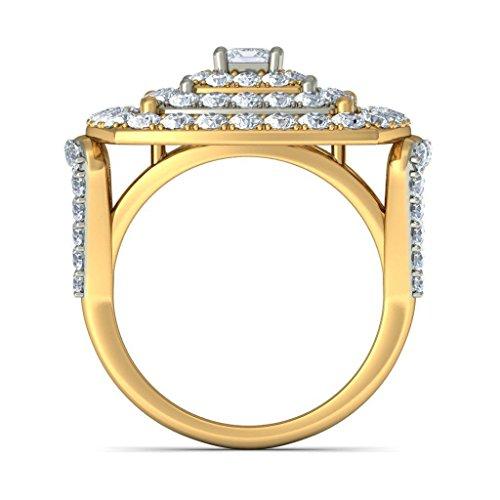 Or jaune 18K, 2,29CT TW Diamant Blanc (IJ | SI) en diamant