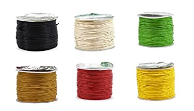 Mandala Crafts 0.5mm Cotton Waxed Cord, for Beading and Macrame Supplies, 100 Meters, 109 Yards