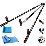 CAJOLG Splitter Leg Stretcher,Leg Expansion Metal Legs Stretching Equipment Stretching Machine,Black,F