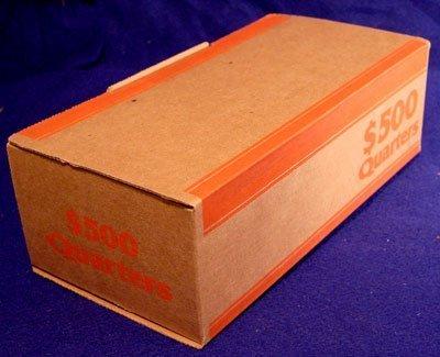 Corrugated Cardboard Coin Transport Box for Quarter Rolls (Corrugated Cardboard Coin)