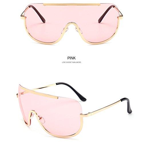 Hukai Fashion Womens Conjoined Lens Mirrored Designer Sunglasses Eyewear Eye Glasses - Men Expensive Shades For