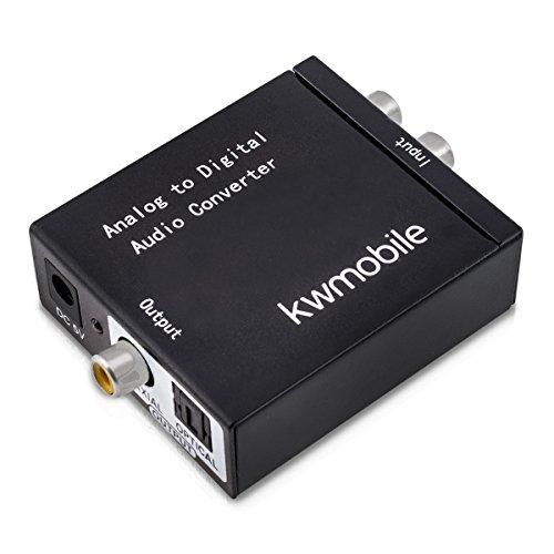 kwmobile Analog Digital Audio Konverter - analog auf digital - Klinke und RCA auf SPDIF, Toslink, Koaxial