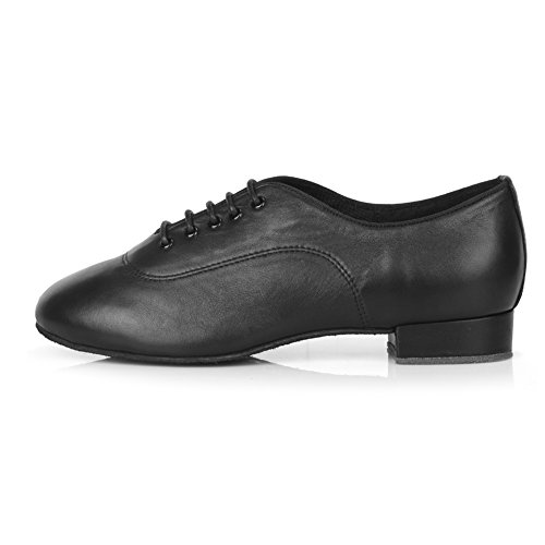 Roymall Mens Scarpe Da Ballo Latino Professionale Ballroom Jazz Tango Waltz Performance Shoes Black-2