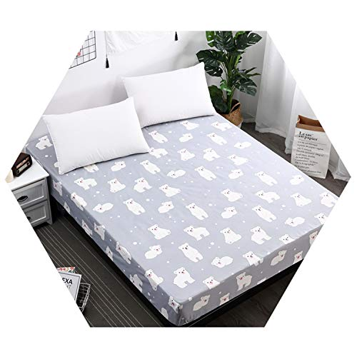 100% Polyester Sheet Mattress Cover Bedding Linens Bed Sheets Elastic Band Double Queen Size XBXX25cm ()