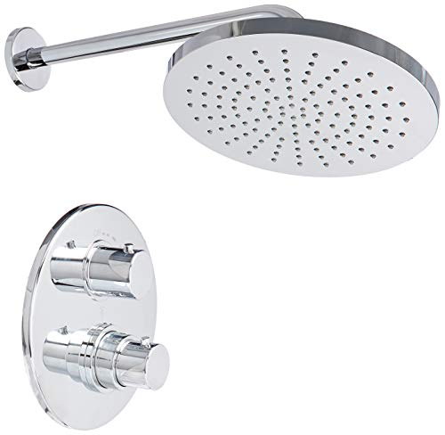 La Toscana 78CR690 Elba Thermostatic Shower Faucet, Chrome