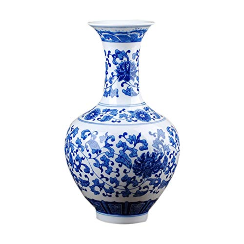 Vases Ceramic Classical Creative High-Grade for Decoration Home Household Wedding Living Room Bedroom Office Table White 19 x 15 cm Fillers (Fillers 15 Vase Creative)