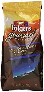 Folgers Gourmet Selections Coffee, Deliciously Dark, 10 Ounce