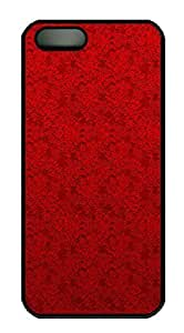 iPhone 5c Case Red Lace PC Hard Plastic Case for iPhone 5c Black