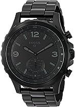 Fossil Q Nate Gen 2 Hybrid Black IP Stainless Steel Smartwatch
