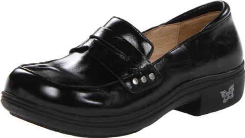 Alegria Womens Taylor Slip-On Black Waxy