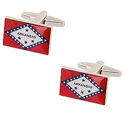 Arkansas State Flag Cufflinks