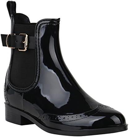 Rieker P8280 Damen Stiefeletten Chelsea Boots Gummistiefel