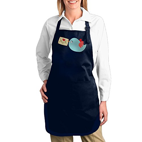 dogquxio dibujos animados pájaro ayudante de cocina profesional babero Delantal con 2bolsillos para mujeres hombres...