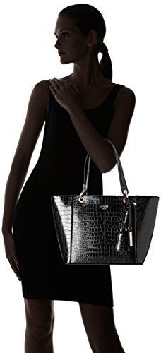 Bolso Kamryn de Croco cm Cabas Negro GUESS Effet Mujer Mano 42x26 5x15 BqHTw