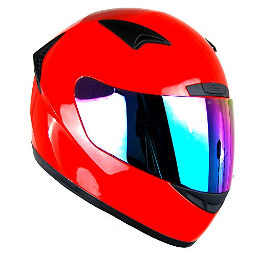 (1STORM MOTORCYCLE BIKE FULL FACE HELMET BOOSTER GLOSSY RED)